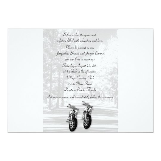 The Open Road Motorcycle Wedding Invitations Zazzle Com