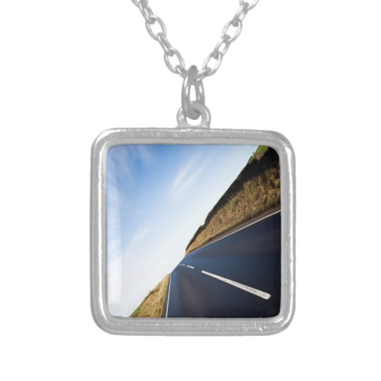 the open road silver plated necklace