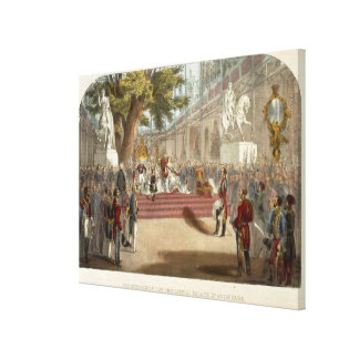 The Opening by Queen Victoria of the Industrial Pa Canvas Print