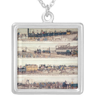 The opening of Stockton and Darlington Silver Plated Necklace