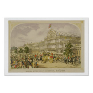 The Opening of the Great Exhibition, May 1st 1851, Poster