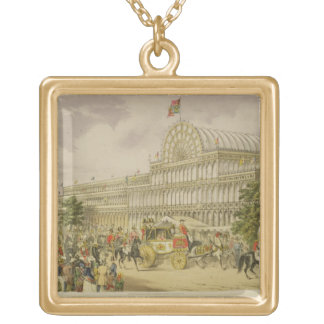 The Opening of the Great Exhibition, May 1st 1851, Square Pendant Necklace