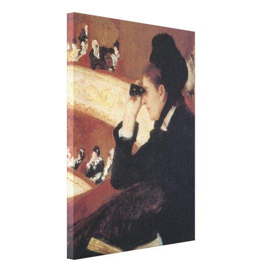 The Opera by Mary Cassatt, Vintage Impressionism Canvas Print