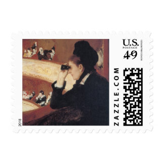 The Opera by Mary Cassatt, Vintage Impressionism Postage Stamp