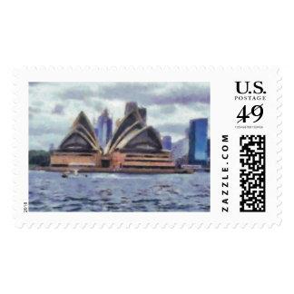 The opera house postage