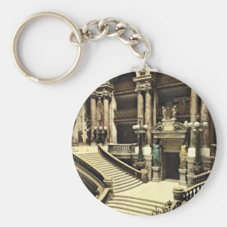 The Opera House, the grand staircase, Paris, Franc Keychain