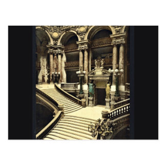 The Opera House, the grand staircase, Paris, Franc Postcard
