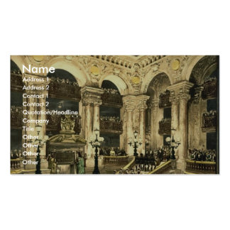 The Opera House, the inauguration of the opera, Pa Double-Sided Standard Business Cards (Pack Of 100)