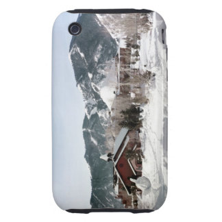 The Opera House with Snow Sculptures iPhone 3 Tough Cover