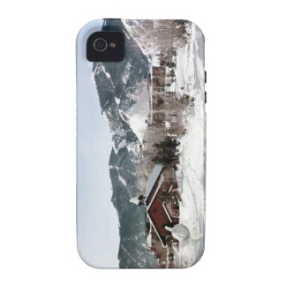 The Opera House with Snow Sculptures iPhone 4 Cover