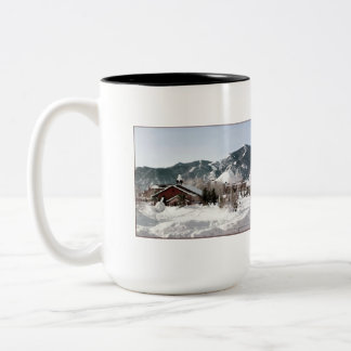 The Opera House with Snow Sculptures Mugs