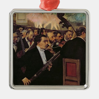 The Opera Orchestra, c.1870 Square Metal Christmas Ornament