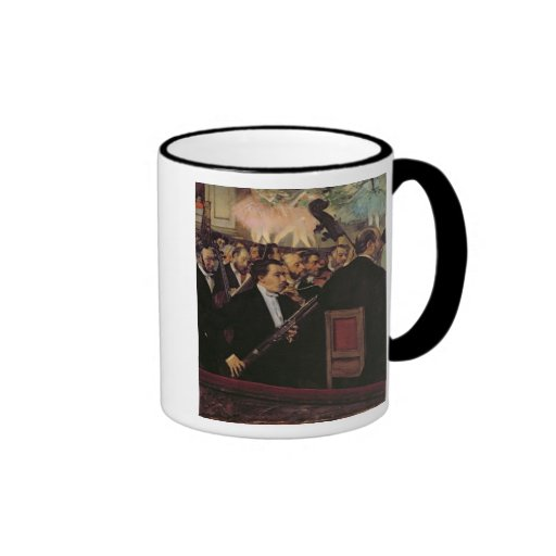 The Opera Orchestra, c.1870 Ringer Coffee Mug
