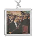 The Opera Orchestra, c.1870 Square Pendant Necklace