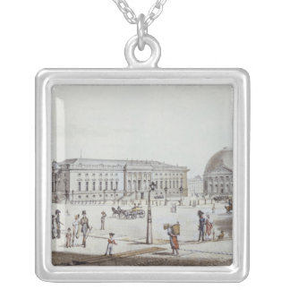The Opernplatz, Berlin Silver Plated Necklace