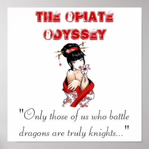"The Opiate Odyssey ""Seku's Dragons"" Design Poster"