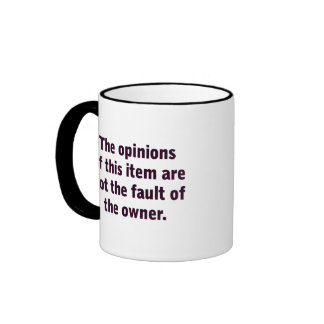 The opinion of this item mugs