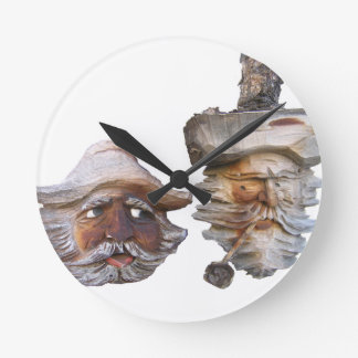 The Opinionated Men Round Wall Clock
