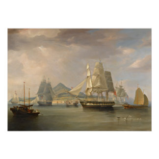 "The Opium Ships by WJ Huggins poster 20""x28"""