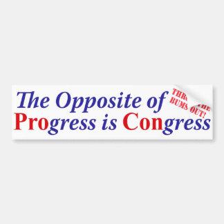 The Opposite of Progress is Congress Bumper Sticker
