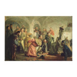 The Oprichnina at the Court of Ivan IV Stretched Canvas Print