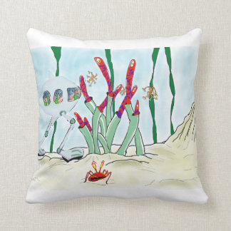 The opticians nightmare throw pillow