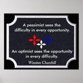 The Optimist - Winston Churchill quote - print