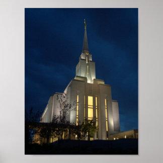 The Oquirrh Mountain Utah Temple Poster