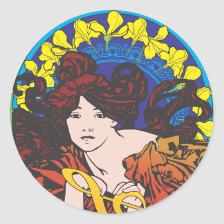 The Oracles of Music Classic Round Sticker