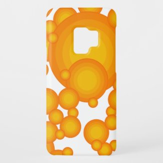The Orange 70's year styling Case-Mate Samsung Galaxy S9 Case
