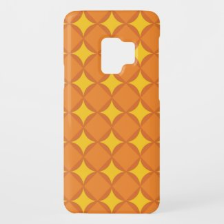 The Orange 70's year styling circle Case-Mate Samsung Galaxy S9 Case