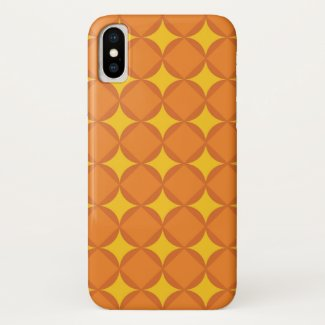 The Orange 70's year styling circle iPhone X Case