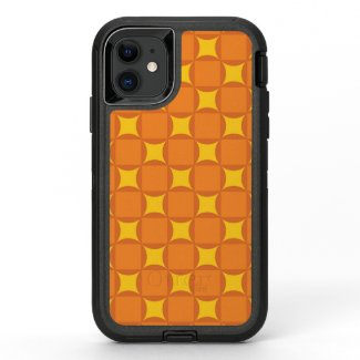 The Orange 70's year styling circle OtterBox Defender iPhone 11 Case