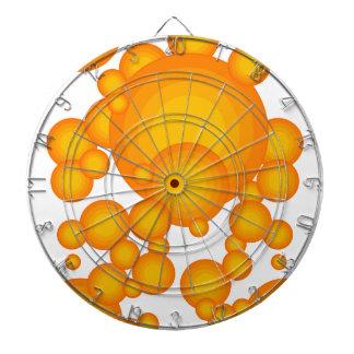 The Orange 70's year styling Dart Board