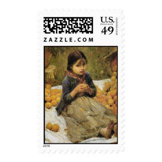 The Orange Gatherers (detail) J W Waterhouse Postage