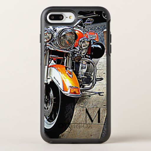 The orange motorcycle -add monogram OtterBox symmetry iPhone 8 plus/7 plus case