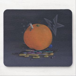the orange mousepad