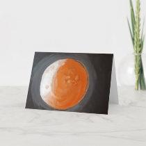 The Orange Planet - Greeting Card - Blank inside