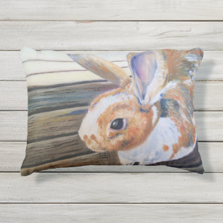"The Orange Rabbit ""Cheeto"" Outdoor Accent Pillow"