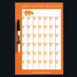 """The Orange Rhino 30-Day Calendar White Board<br><div class=""""desc"""">Each month, keep track of your yell-free days (or days with way more loving moments than yelling moments) with this handy Orange Rhino white board Calendar! Draw hearts, stars, smiley faces or whatever reminds you of your success on your good days! For extra inspiration, write a numeric goal next to...</div>"""