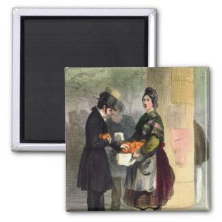 The Orange Seller, from 'Les Femmes de Paris' Magnet