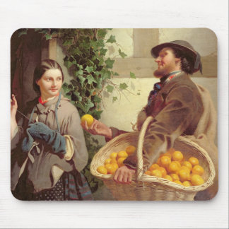 The Orange Seller (oil on canvas) Mouse Pad