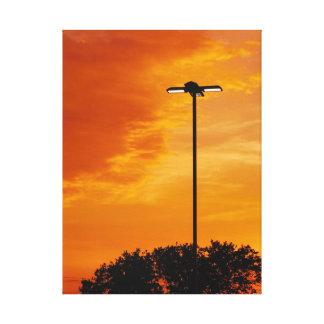 The Orange Sky Canvas Print