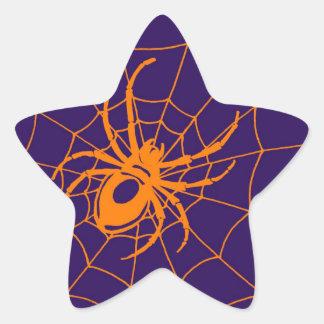 THE ORANGE SPIDER STAR STICKER