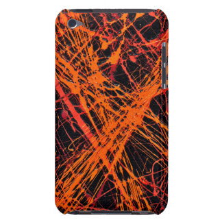 THE ORANGE WEB (an abstract art design) ~ Barely There iPod Covers