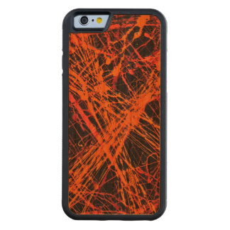 THE ORANGE WEB (an abstract art design) ~ Carved® Cherry iPhone 6 Bumper Case