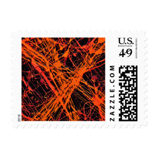 THE ORANGE WEB (an abstract art design) ~.jpg Postage
