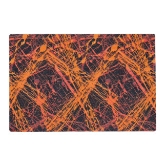 THE ORANGE WEB (an abstract art design) ~ Placemat