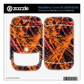 THE ORANGE WEB (an abstract art design) ~ BlackBerry Decals