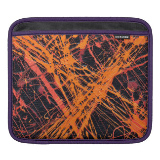 THE ORANGE WEB (an abstract art design) ~ Sleeve For iPads